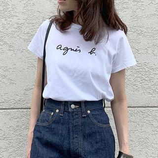 agnes b. - Lサイズ   アニエスベ一 Tシャツ レディース 半袖   ブラック+ホワイト