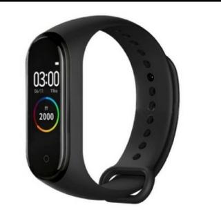 スマートウオッチ ブレスレット 活動量計 ペアセット ブラック&レッド(腕時計(デジタル))