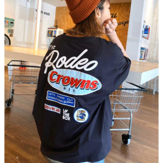 RODEO CROWNS WIDE BOWL - ロデオ★Mix big VネックTシャツ