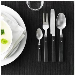 イケア(IKEA)のIKEA イケア MOGEN モーゲン カトラリー8点セット ブラック(カトラリー/箸)