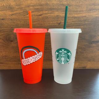Starbucks Coffee - スターバックス コールドカップ タンブラー 2個セット 海外限定 ベンティサイズ