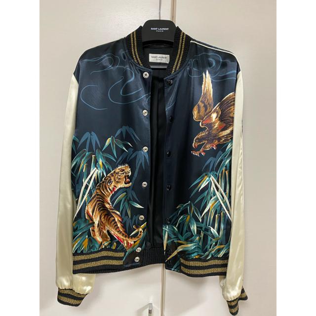 Saint Laurent(サンローラン)のサンローランパリ タイガー&イーグルスカジャン44 メンズのジャケット/アウター(スカジャン)の商品写真