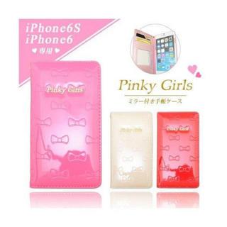 イング(INGNI)のPinky Girls 手帳型スマホケース iPhone6/iPhone6s(iPhoneケース)