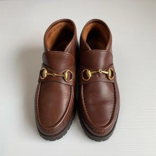 グッチ(Gucci)のGUCCI ホースビット ブーツ 35 1/2C イタリア製 グッチ モカシン(ローファー/革靴)