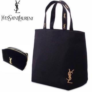 Yves Saint Laurent Beaute - 【セットでお得】イヴサンローラン★トートバック&ポーチセット★ブラック