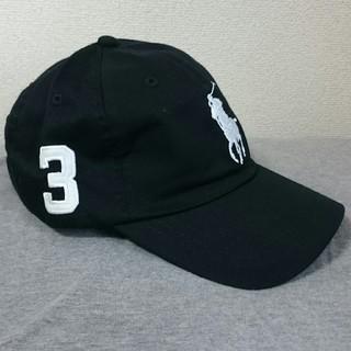 ポロラルフローレン(POLO RALPH LAUREN)の新品タグ付き ポロ・ラルフローレン 帽子 ブラック/ホワイトビッグポニー 高品質(キャップ)