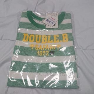 ダブルビー(DOUBLE.B)の【新品】ミキハウス  ダブルB SAFARIボーダータンクトップ  110(Tシャツ/カットソー)