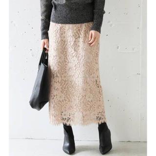 IENA - IENA ニュアンスレースタイトスカート