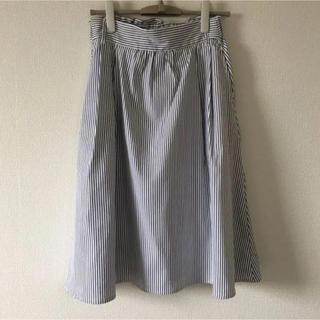 テチチ(Techichi)のテチチ ストライプフレアスカート 試着のみ良品(ひざ丈スカート)