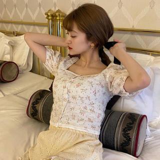 bibiy flower puff blouse♡(シャツ/ブラウス(半袖/袖なし))