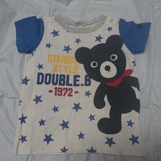 ダブルビー(DOUBLE.B)の【専用】ミキハウス  ダブルB  メガ!!Bくんの半袖Tシャツ  90(Tシャツ/カットソー)