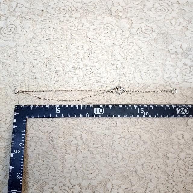 4℃(ヨンドシー)の【4℃】オープンハート シルバー ブレスレット(送料無料) レディースのアクセサリー(ブレスレット/バングル)の商品写真