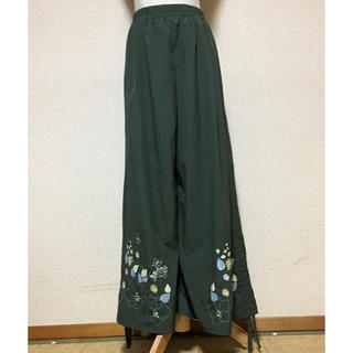 ScoLar - scolar スカラー 花柄刺繍 サイド絞り 2way パンツ 未使用