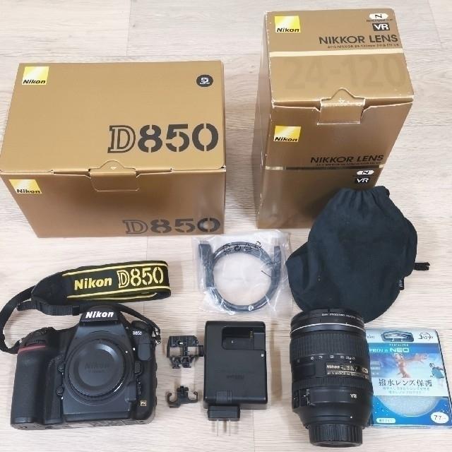 Nikon(ニコン)の限定値引き!レンズ付き NIKOND850 ボディーレンズセット 備品全てあり スマホ/家電/カメラのカメラ(デジタル一眼)の商品写真