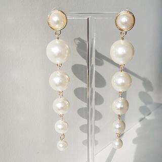 GRACE CONTINENTAL - long pearl drop pierce