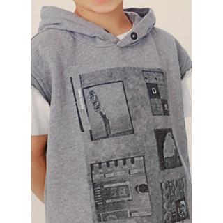ディーゼル(DIESEL)のディーゼルキッズノースリパーカーグレーサイズ10(Tシャツ/カットソー)
