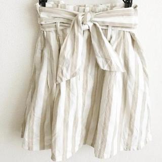 ダズリン(dazzlin)のdazzlin スカート Sサイズ ストライプ ベルト付き(ミニスカート)
