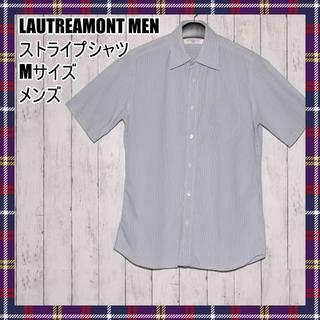 ロートレアモン(LAUTREAMONT)のLAUTREAMONT MEN ロートレアモン ストライプシャツ 半袖 Mサイズ(シャツ)