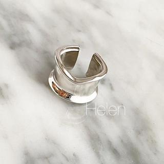 フィリップオーディベール(Philippe Audibert)のボーンカフ シルバーリング silver925  (リング(指輪))