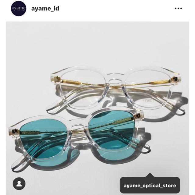 Ayame(アヤメ)のayame newold クリアフレーム 東京 千駄ヶ谷店 限定モデル メンズのファッション小物(サングラス/メガネ)の商品写真