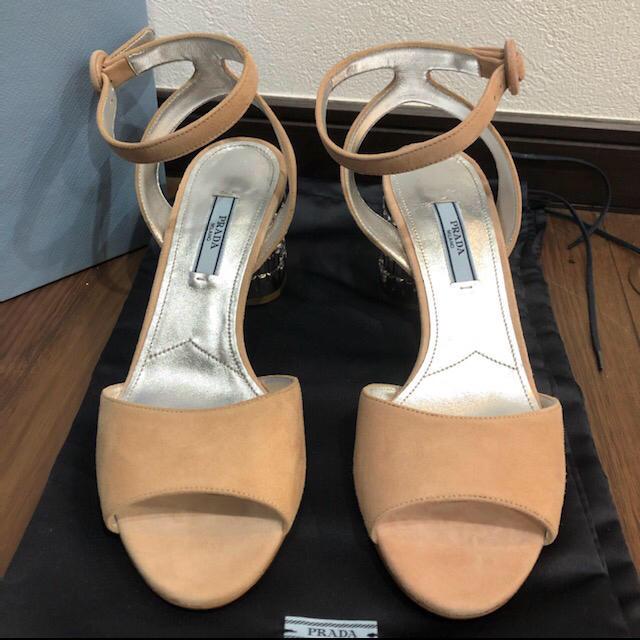 PRADA(プラダ)の値下げ 新品 プラダ PRADA サンダル クリスタル ビジュー 24cm レディースの靴/シューズ(サンダル)の商品写真