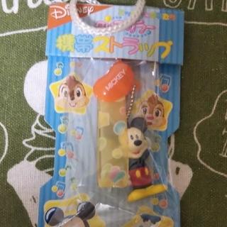 ミッキーマウス(ミッキーマウス)の⭐️Disney⭐️クリアカラーミッキー携帯ストラップ(キャラクターグッズ)