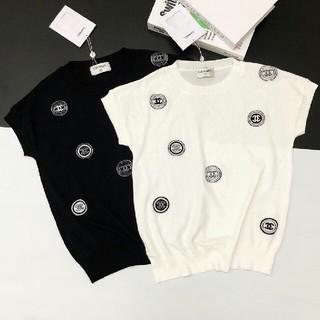 シャネル(CHANEL)のコインロゴ セーター ニット半袖(シャツ/ブラウス(半袖/袖なし))
