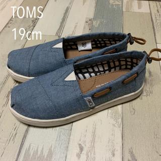 TOMS - TOMS 19cm 女の子 トムス デニム スリッポン チェック 男の子