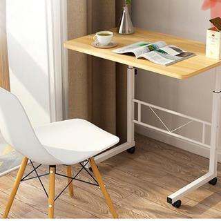 新品 サイドテーブル 昇降可能デスク 高さ調整可能 折りたたみ(コーヒーテーブル/サイドテーブル)