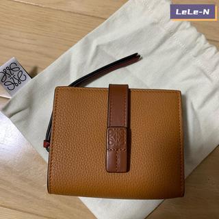 LOEWE - LOEWE<新品> コンパクトジップミニ財布 LIGHT CARAMEL/P