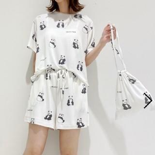 ジェラートピケ(gelato pique)の【ONLINE 限定】パンダTシャツ&ショートパンツ&巾着SET(ルームウェア)