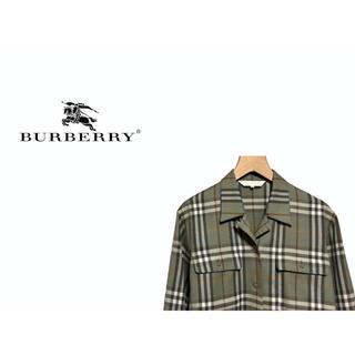バーバリー(BURBERRY)のVintage BURBERRY ノバチェック オープンカラー シャツ(シャツ/ブラウス(長袖/七分))