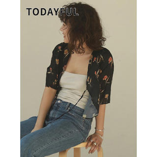 TODAYFUL - TODAYFUL Georgette Flower Cardigan  20ss
