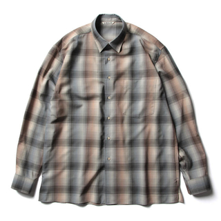 COMOLI - AURALEE ウールチェックシャツ
