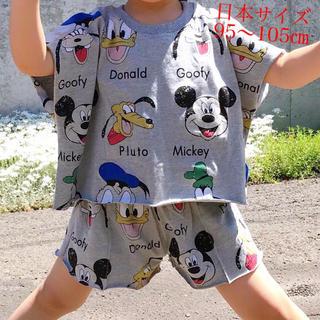 Disney - ★夏★涼しいコーデ♪ディズニー★セットアップ♡綿100%*グレイ・110★