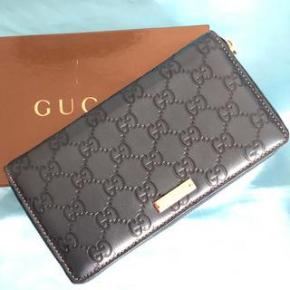 グッチ(Gucci)の【新品同様、未使用品】グッチのラウンドファス♤ナー ☆296♢ S(長財布)
