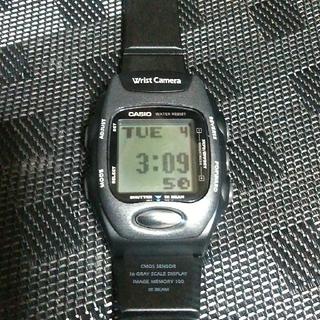 カシオ(CASIO)のCASIO カメラ付きデジタル腕時計 WQV-2  動作品(腕時計(デジタル))