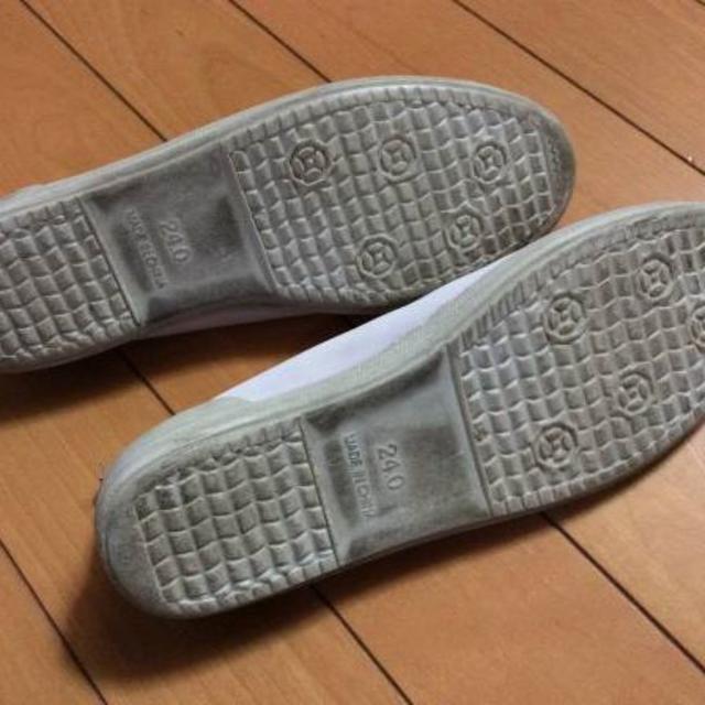☆中古・上履き☆ 女子24.0cm 白色 上靴 スクールシューズ レディースの靴/シューズ(バレエシューズ)の商品写真