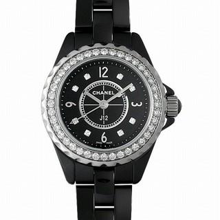J12 黒セラミック 8Pダイヤ ベゼルダイヤ 新品 レディース 腕時計