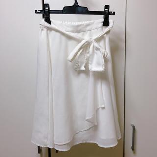 ロディスポット(LODISPOTTO)のLODISPOTTOリボンフレアスカート(ひざ丈スカート)