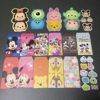 Disney - ディズニー キャラクターポチ袋&シールおすそわけセット