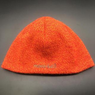 モンベル(mont bell)の即決 mont-bell モンベル ニット帽 ビーニー オレンジ(ニット帽/ビーニー)