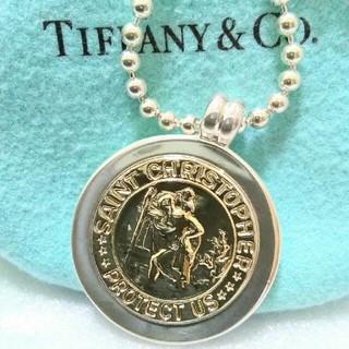 Tiffany & Co. - ティファニー セントクリストファーコインネックレス