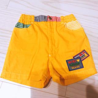 ミキハウス(mikihouse)の美品 ミキハウス ハーフパンツ 黄色 110(パンツ/スパッツ)