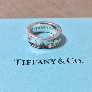 Tiffany & Co. - ティファニー 1837 ナロー リング 指輪 ワイド 8号 925