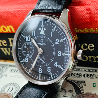 オメガ(OMEGA)の【OH済・動作良好】オメガ パイロット ミリタリー メンズ 腕時計 アンティーク(腕時計(アナログ))