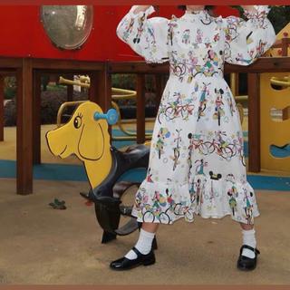 ディズニー(Disney)のディズニー ワンピース 長袖(ロングワンピース/マキシワンピース)