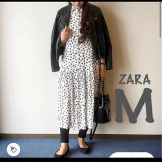 ZARA - 【新品・未使用】 ZARA フラワー 柄 ワンピース M
