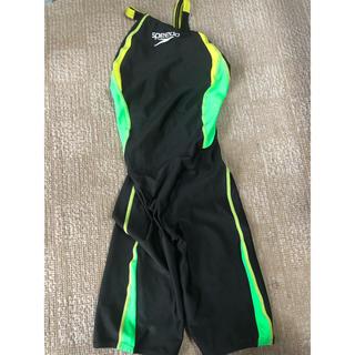 SPEEDO - speedo 黒×緑×黄色 Lサイズ