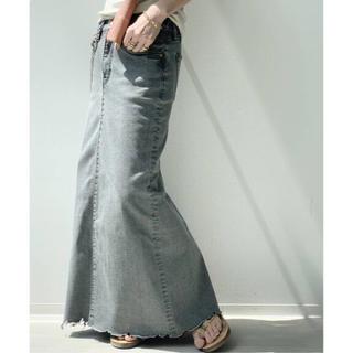アパルトモンドゥーズィエムクラス(L'Appartement DEUXIEME CLASSE)の★新品★GOOD GRIEF DENIM LONG スカート グレー38(ロングスカート)